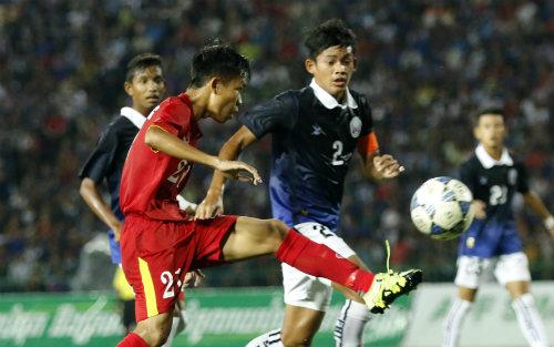 U16 Việt Nam - U16 Campuchia: Bản lĩnh thép - 1