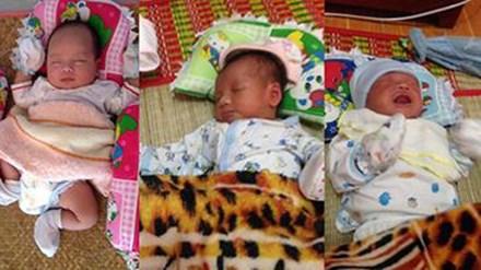 3 cháu bé sơ sinh bị bỏ rơi trước cổng chùa - 1