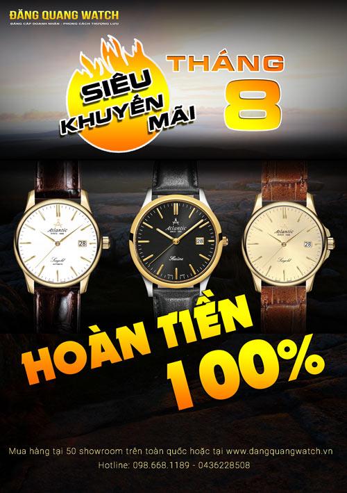 """Cơ hội """"Mua đồng hồ miễn phí"""" tại Đăng Quang Watch - 2"""