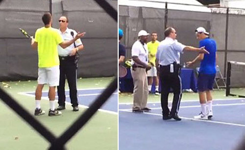 """2 siêu quậy tennis nổi điên """"sống mái"""" với cảnh sát - 1"""