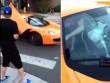 Bé trai cầm ván trượt đập vỡ kính siêu xe gần 6 tỷ