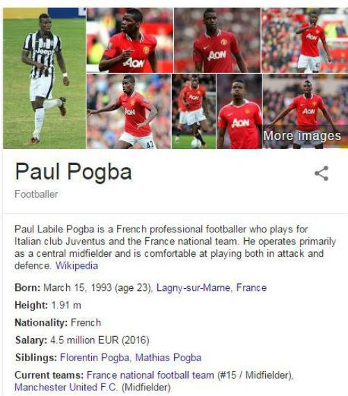 """Pogba """"chính thức"""" về MU... trên Wiki - 1"""