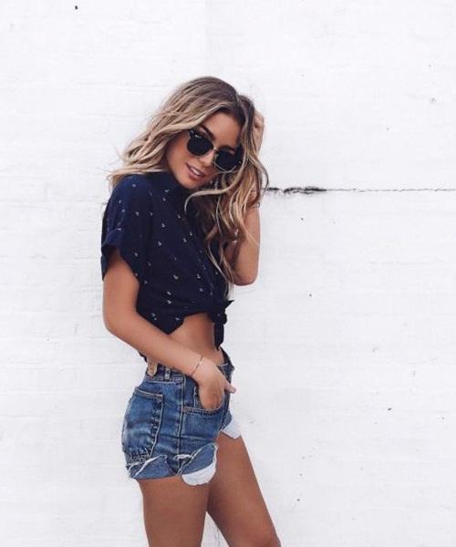 Da nâu sexy, mặc quần short jeans cũng đẹp! - 7