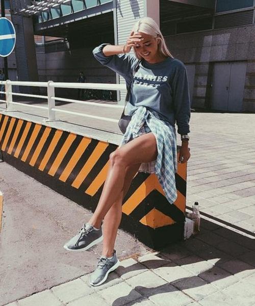 Da nâu sexy, mặc quần short jeans cũng đẹp! - 9