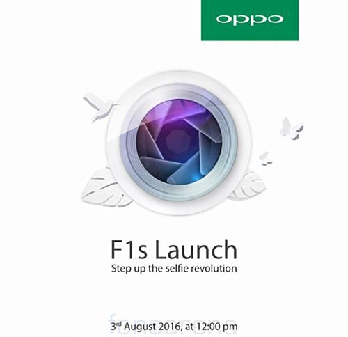 Oppo gửi thư mời sự kiện F1s, camera phụ 16MP - 1