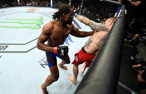 """UFC: """"Mưa đấm"""" dằn mặt lính mới xăm trổ - 1"""