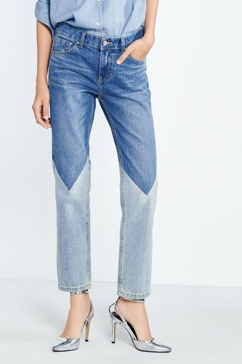 Quần jeans 2 màu - xu hướng phải thử ngay hè này! - 1