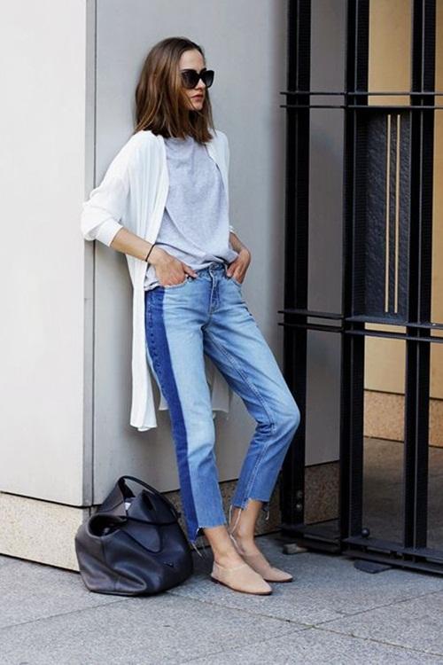 Quần jeans 2 màu - xu hướng phải thử ngay hè này! - 6