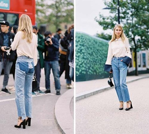 Quần jeans 2 màu - xu hướng phải thử ngay hè này! - 10