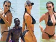 Vợ Sagna khoe vẻ đẹp vạn người mê ở bãi biển Miami