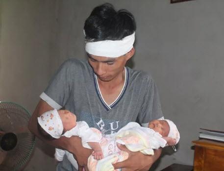 Xót thương cặp song sinh vừa chào đời đã mất mẹ - 1