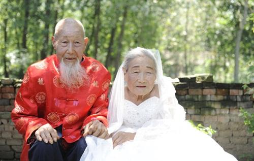 Cặp vợ chồng TQ 103 tuổi kỷ niệm đám cưới kim cương - 1