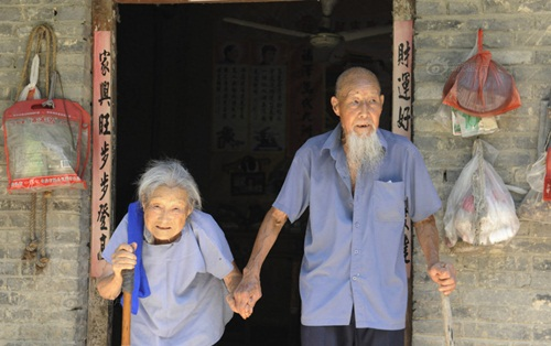 Cặp vợ chồng TQ 103 tuổi kỷ niệm đám cưới kim cương - 4