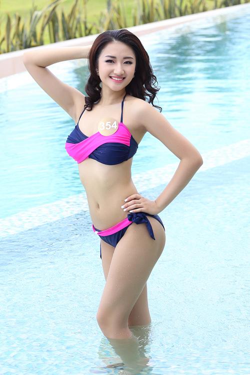 Dàn thí sinh hoa hậu Mỹ gốc Việt nóng bỏng với bikini - 1