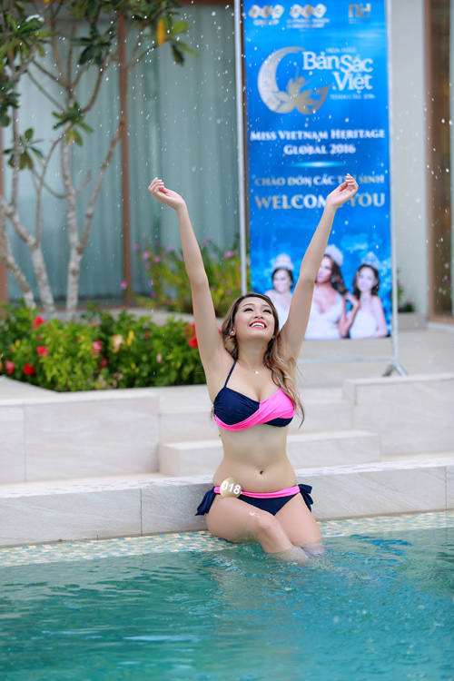 Dàn thí sinh hoa hậu Mỹ gốc Việt nóng bỏng với bikini - 9