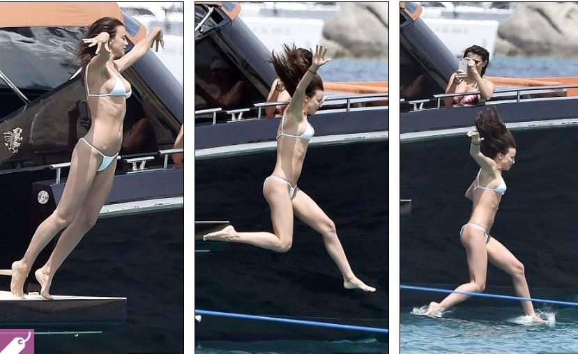 Irina Shayk diện bikini nhỏ xíu, gợi cảm bên người tình - 3