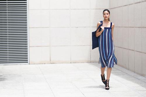 Chà Mi Next Top Model xuống phố với sắc xanh mát mắt - 6