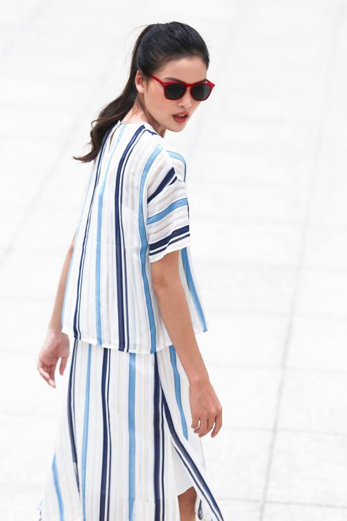 Chà Mi Next Top Model xuống phố với sắc xanh mát mắt - 8