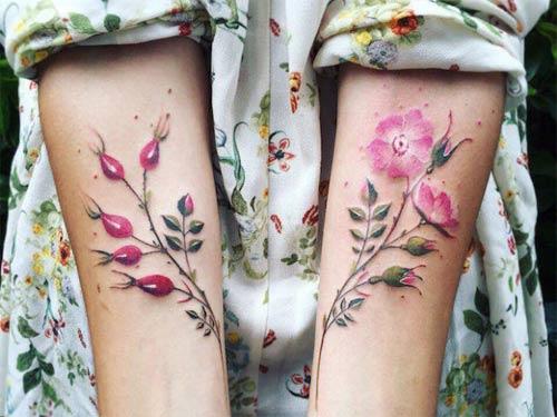Ngỡ ngàng với hình xăm hoa lá đẹp tới mức nín thở - 2