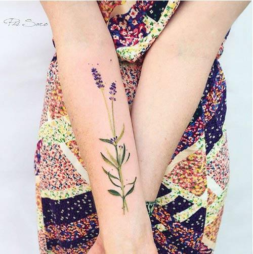 Ngỡ ngàng với hình xăm hoa lá đẹp tới mức nín thở - 6