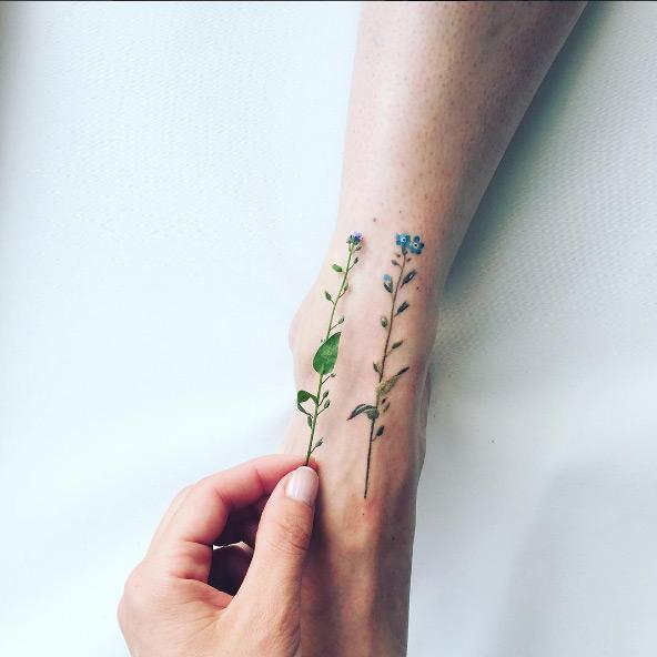 Ngỡ ngàng với hình xăm hoa lá đẹp tới mức nín thở - 17