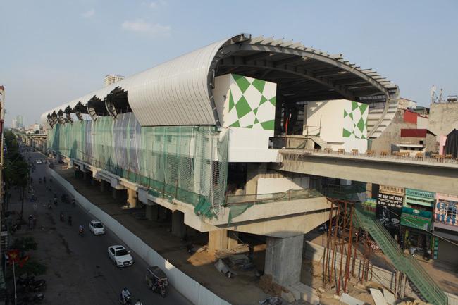 Ảnh: 12 nhà ga đường sắt Cát Linh-Hà Đông dần thành hình - 4