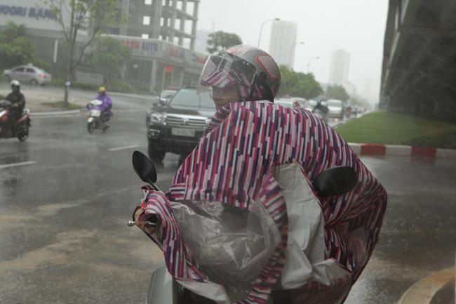 Chùm ảnh: Người Hà Nội vật vã chống chọi bão số 1 - 5