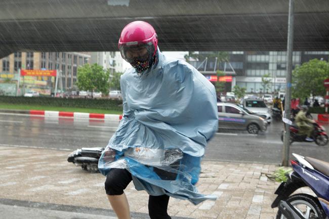 Chùm ảnh: Người Hà Nội vật vã chống chọi bão số 1 - 4