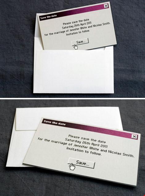 Những mẫu thiệp cưới cực chất dành cho các cặp đôi - 10