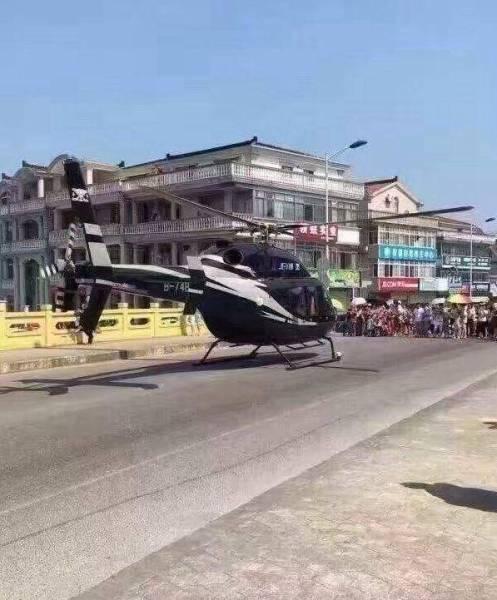 Cặp đôi TQ vung tiền thuê trực thăng đưa đến đám cưới - 2