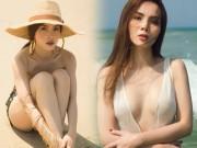Yến Trang tung ảnh bán nude trên bãi biển