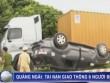 Clip: Ôtô lật ngửa sau va chạm, 6 người bị thương