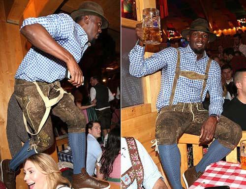 """Usain Bolt lại """"ngập"""" trong bia & người đẹp ở Đức - 2"""