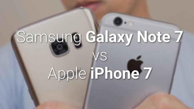 So sánh sơ bộ giữa Samsung Galaxy Note 7 với iPhone 7/7 Plus - 1