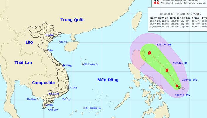 24 giờ tới, áp thấp có khả năng mạnh lên thành bão - 1