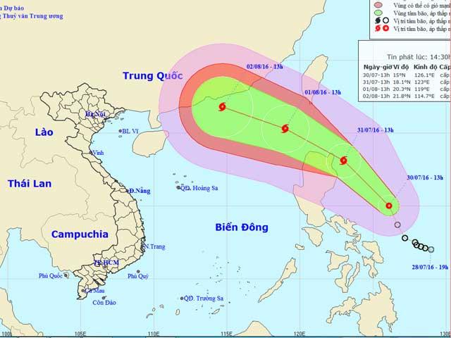Áp thấp nhiệt đới sức gió cấp 15 hướng vào Biển Đông - 1