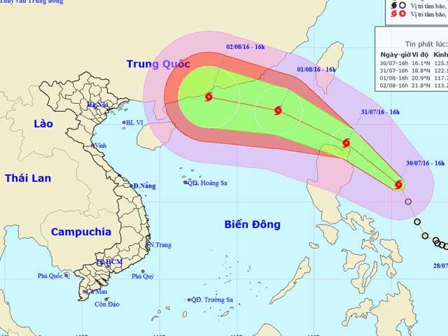 Áp thấp nhiệt đới đã mạnh lên thành bão Nida - 1