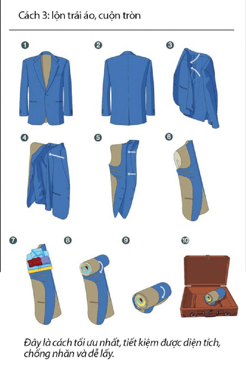Mẹo gấp áo vest nhỏ gọn, không bị nhăn - 3