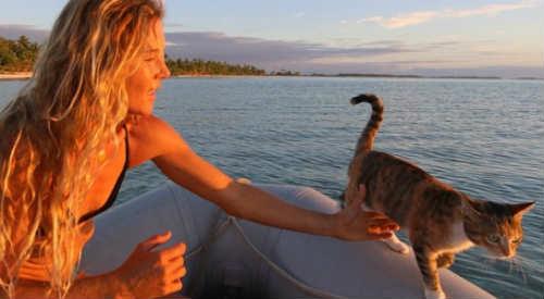 Bài học đắt giá của cô gái du lịch thế giới cùng mèo cưng - 1