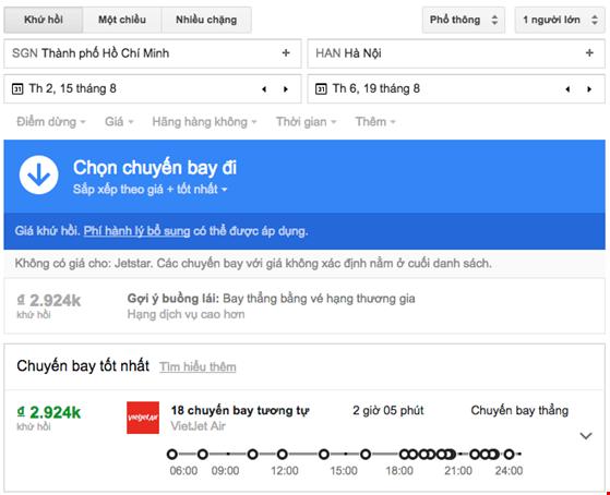 Google ra mắt dịch vụ săn vé máy bay giá rẻ - 1