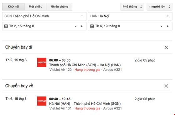 Google ra mắt dịch vụ săn vé máy bay giá rẻ - 2