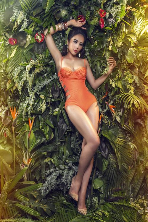 Hoa khôi Nam Em đại diện Việt Nam thi Hoa hậu Trái đất - 1