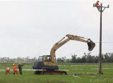 Sửa đường điện sau bão số 1, một công nhân thiệt mạng - 1