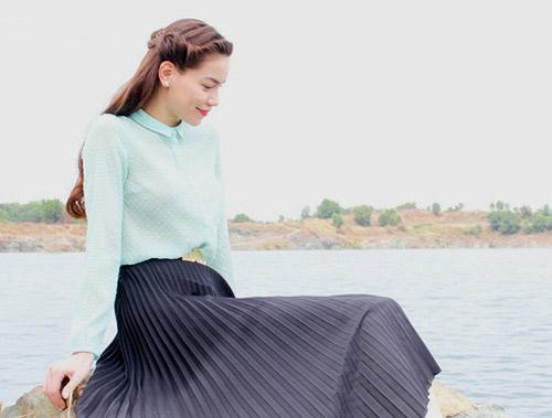Hồ Ngọc Hà mải miết mặc đẹp với 1001 kiểu chân váy - 6