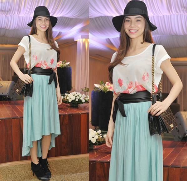 Hồ Ngọc Hà mải miết mặc đẹp với 1001 kiểu chân váy - 9