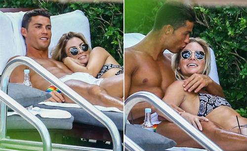 Nghỉ hè ở Mỹ, Ronaldo lộ diện bạn gái mới gây sốt - 2
