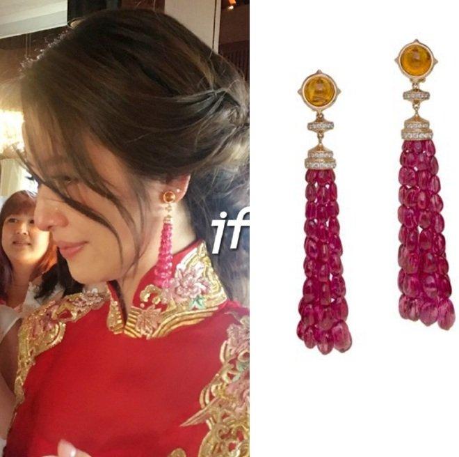 Choáng với váy và trang sức cưới đắt đỏ của Lâm Tâm Như - 9