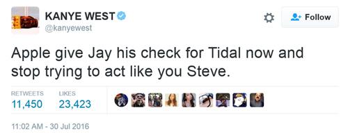 Kanye West phản ứng trước thương vụ Apple mua Tidal - 2