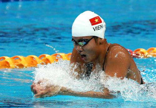 Ánh Viên dồn sức tranh huy chương 400m hỗn hợp - 1