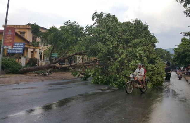 Dông lốc khủng khiếp ở Yên Bái, nhiều nhà bị thổi tung - 1